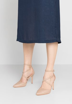 EMILY POINTED CROSS STRAP COURT - High heels - nude