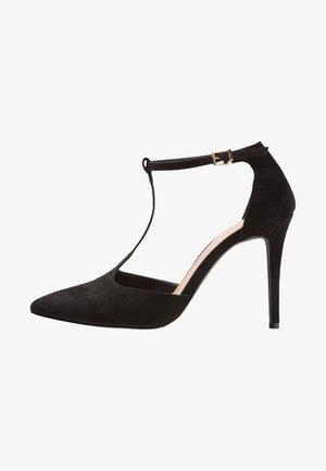 ALYSSA T-BAR POINTED COURT SHOE - High heels - black