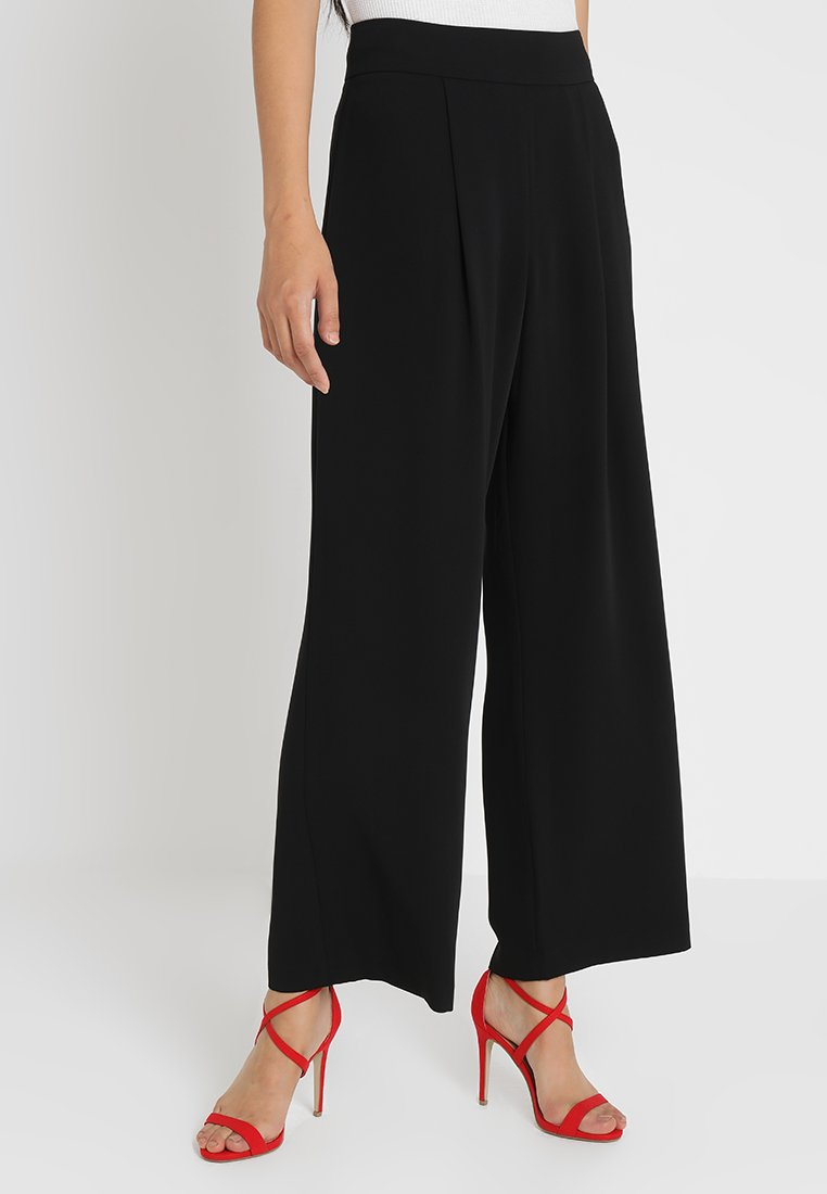 Forever New - VERONICA WIDE LEG - Pantalones - black