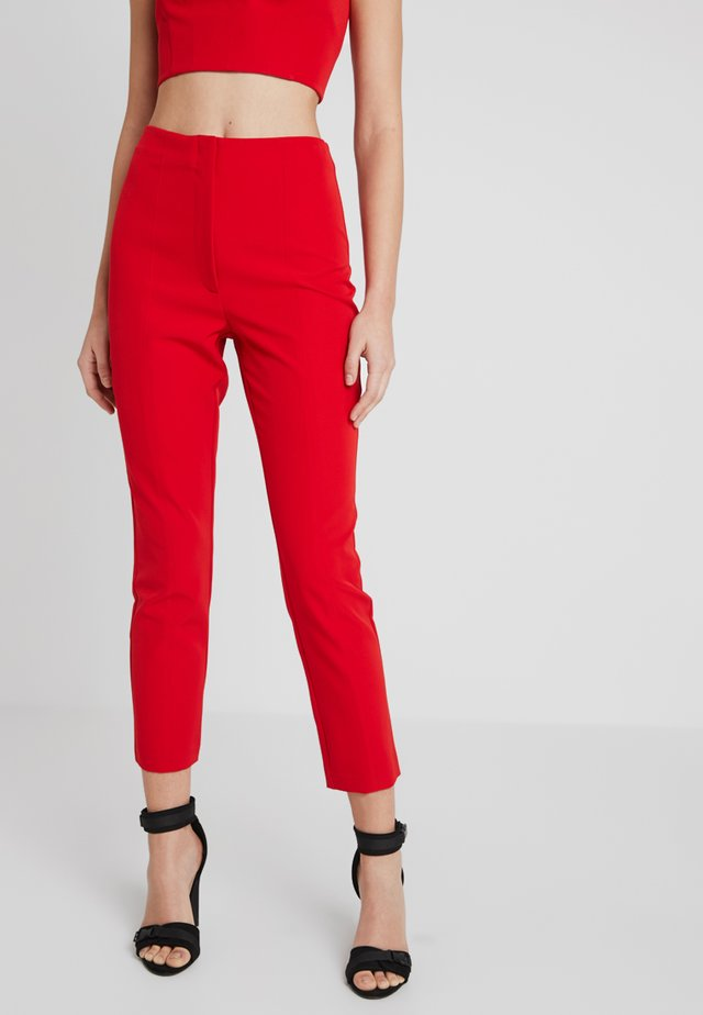 CARLY FRONT SEAM PANTS - Trousers - red