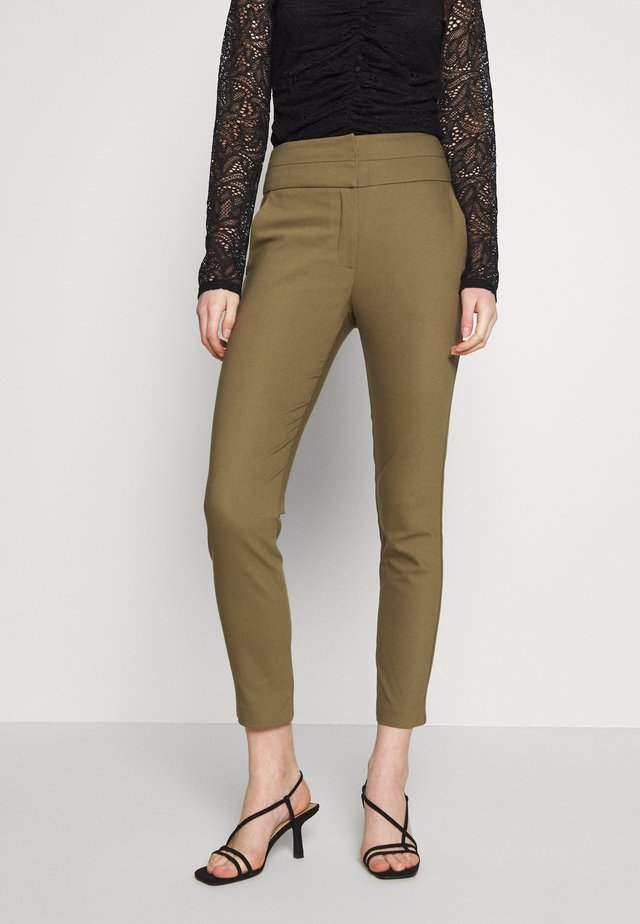 GEORGIA HIGH WAIST FULL LENGTH PANT - Trousers - khaki