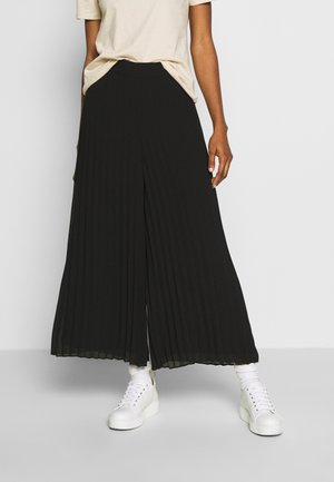 PENNY PLEATED PANT - Trousers - black