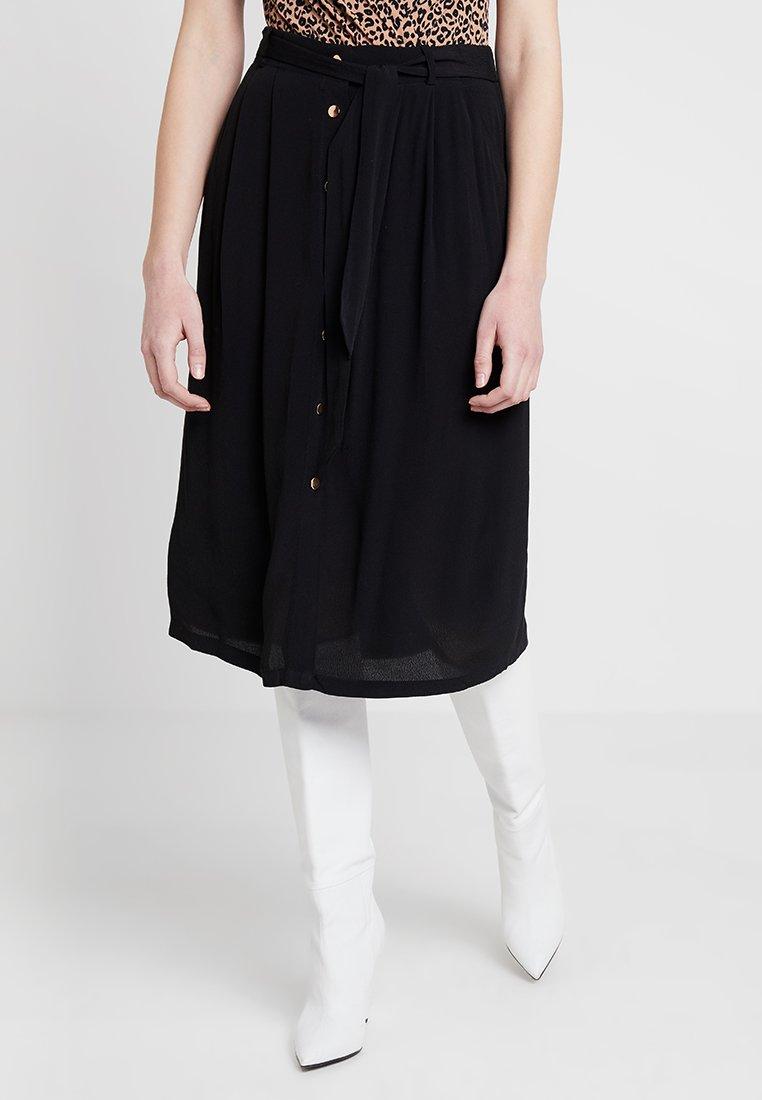 Forever New - JOSIE BUTTON DOWN MIDI - A-line skirt - black