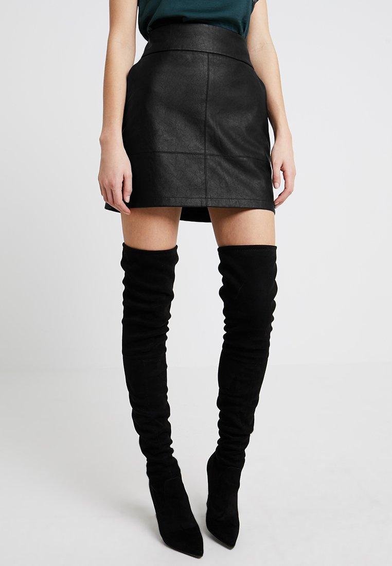 Forever New - MASEY ALINE SKIRT - Mini skirt - black