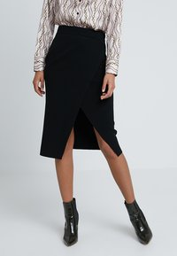 Forever New - WRAP MILANO SKIRT - Falda cruzada - black - 0