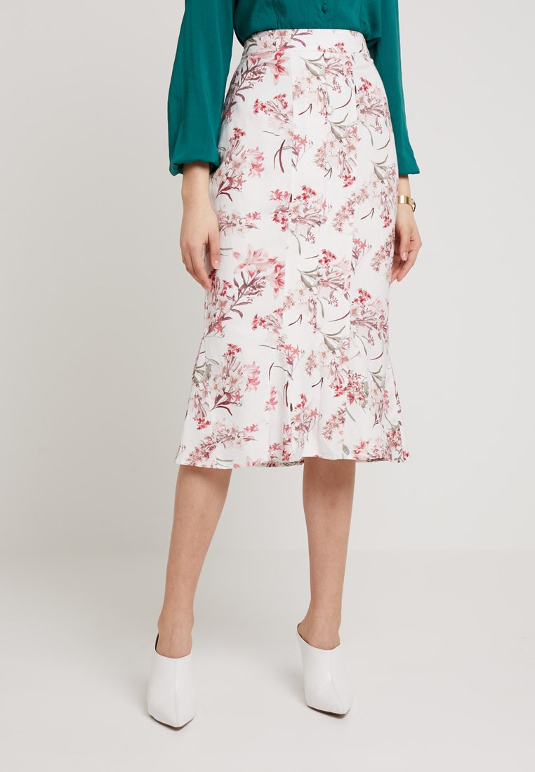 Forever New - BUTTON FRONT SKIRT - Blyantnederdel / pencil skirts - multi-coloured