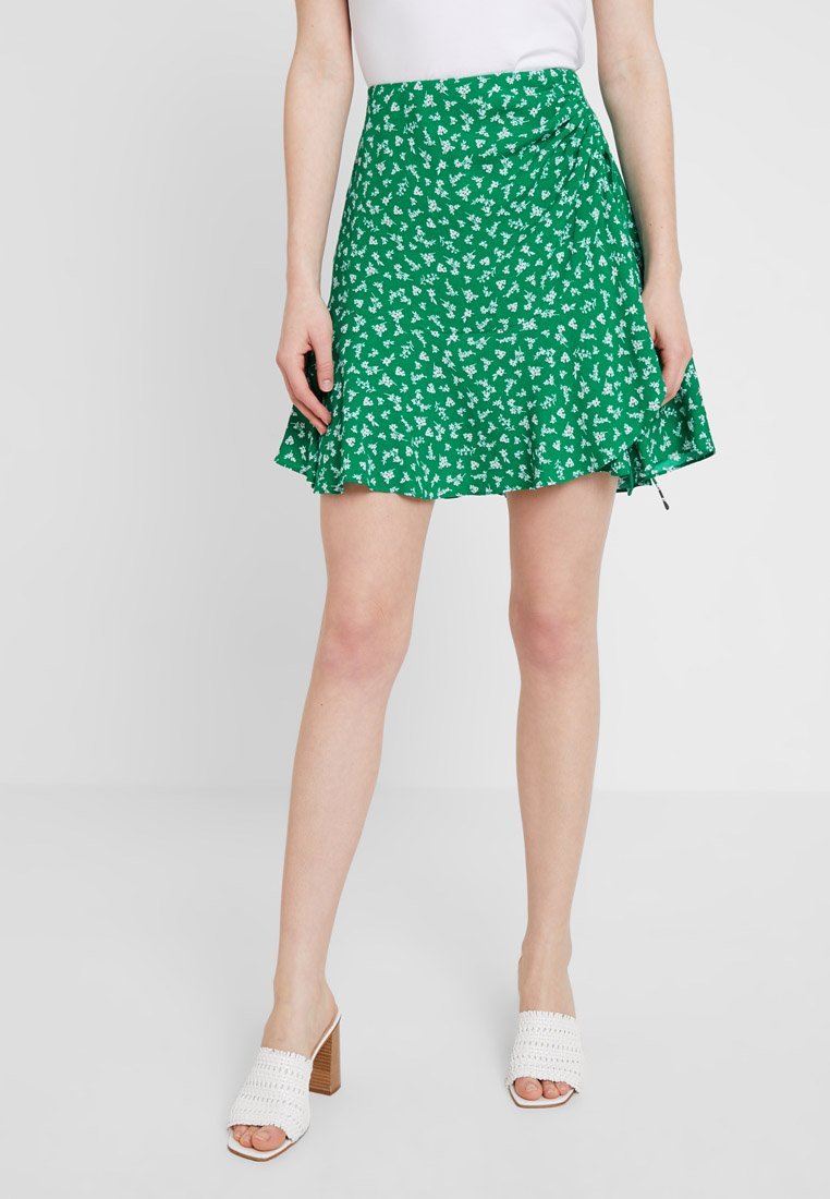 Forever New - LIBBY RUCHED MINI SKIRT - Jupe trapèze - green