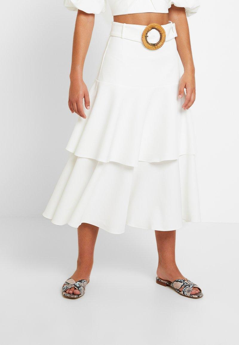 Forever New - TIERED BELTED SKIRT - Maxi skirt - porcelain