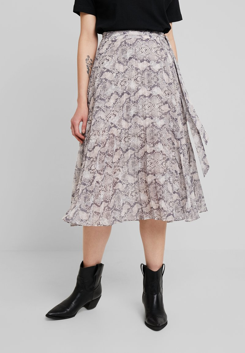 Forever New - CINDY PLEATED SKIRT - A-line skirt - beige