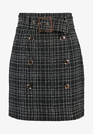 SUNNY BOUCLE SKIRT - Spódnica mini - black
