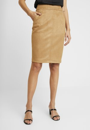 TAMMY PENCIL SKIRT - Kokerrok - tan suedette