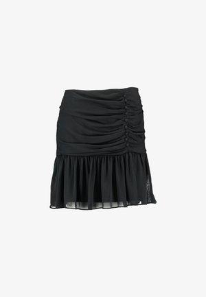 OLLIE RUCHED SKIRT - A-line skirt - black