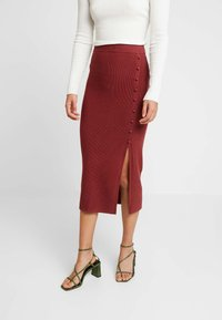 Forever New - BROOKE BUTTON SKIRT - Falda de tubo - rust - 0