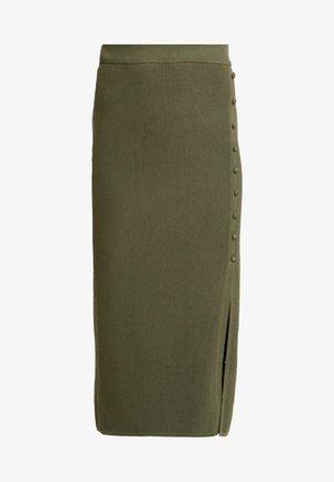 BROOKE BUTTON SKIRT - Pencil skirt - kahki