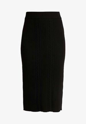 ELLIE SKIRT - Pouzdrová sukně - black
