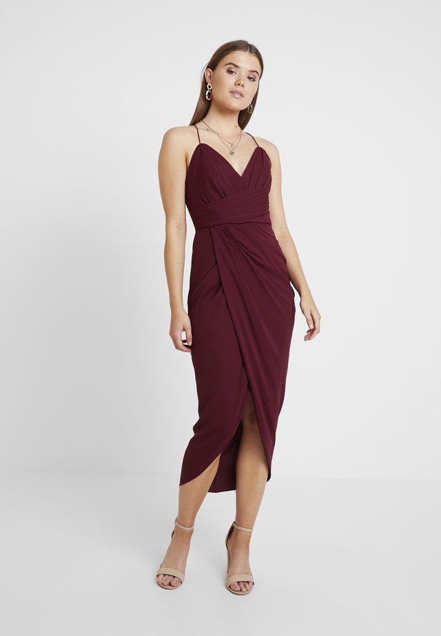CHARLOTTE DRAPE MAXI DRESS - Vestido de fiesta - red sshiraz