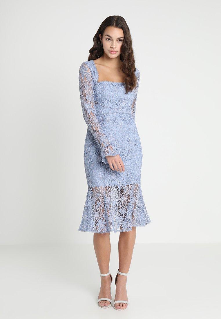Forever New - TRIM DRESS - Koktejlové šaty/ šaty na párty - waterworn blue