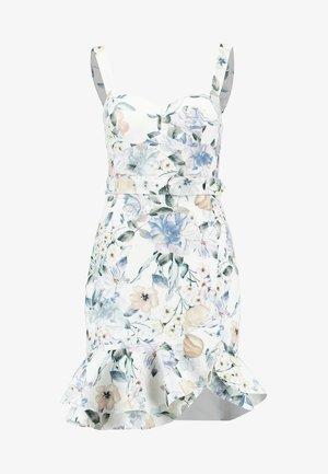 MILEY BELTED FRILL HEM DRESS - Cocktail dress / Party dress - multi-coloured