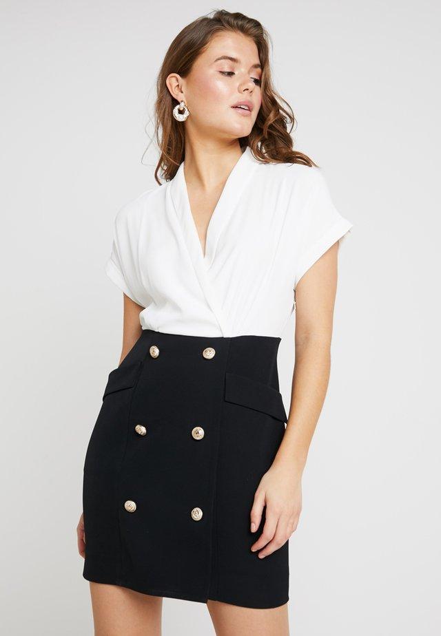 2 IN 1 - Vestido informal - black/white