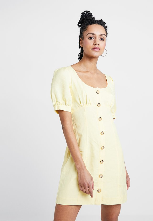 PORTIA BUTTON THROUGH DRESS - Blusenkleid - lemon