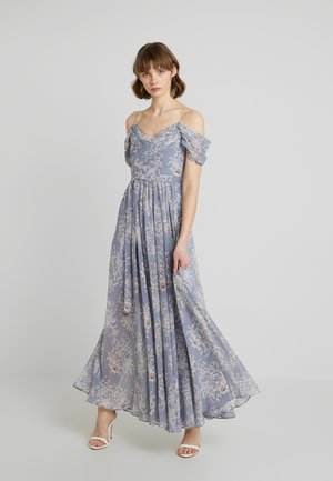 DAINA COLD SHOULDER MAXI DRESS - Abito da sera - blue