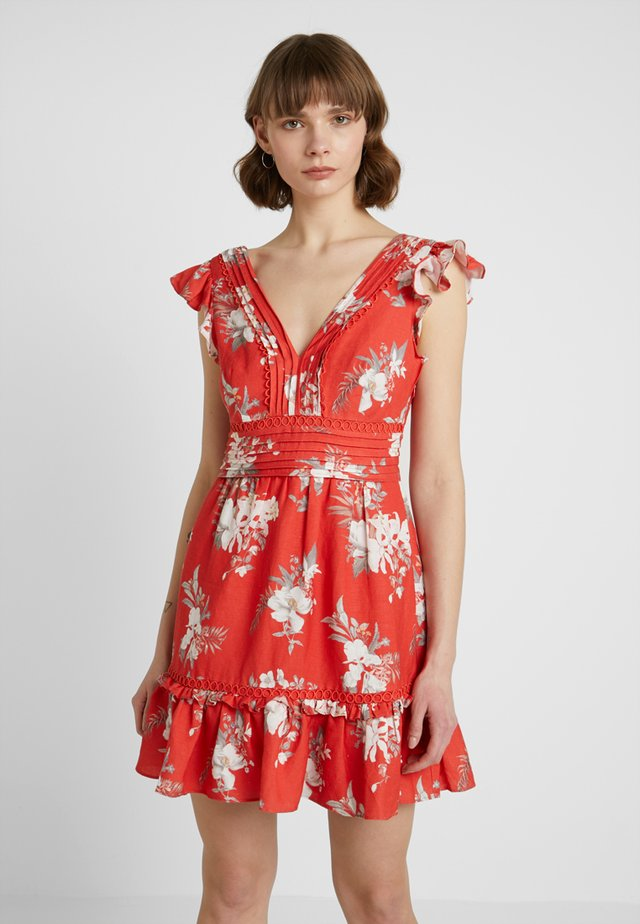 SASHA MINI FLIPPY DRESS - Vestido informal - red
