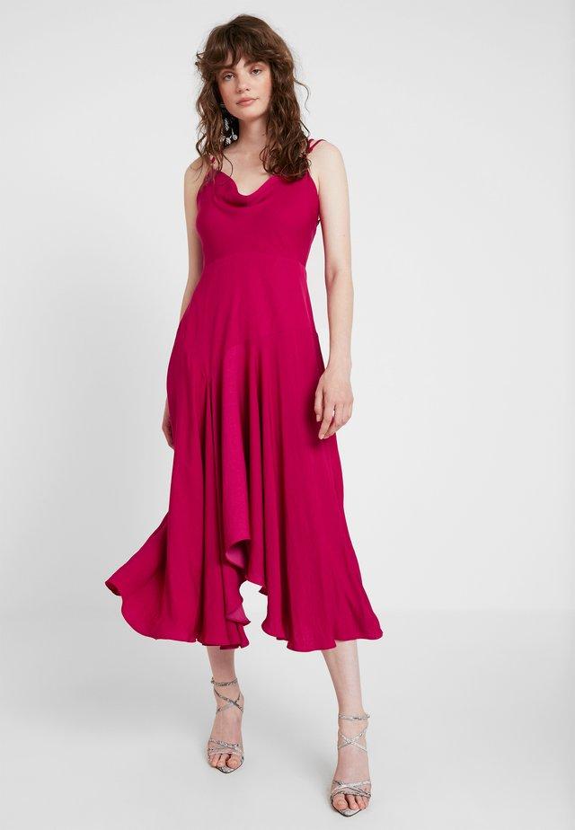 SIDNEY COWL SLIP DRESS - Společenské šaty - fuchsia
