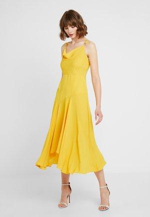 SIDNEY COWL SLIP DRESS - Festklänning - ochre