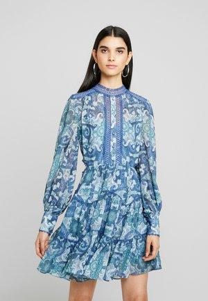 KAI BALLOON SLEEVE DRESS - Sukienka letnia - blue