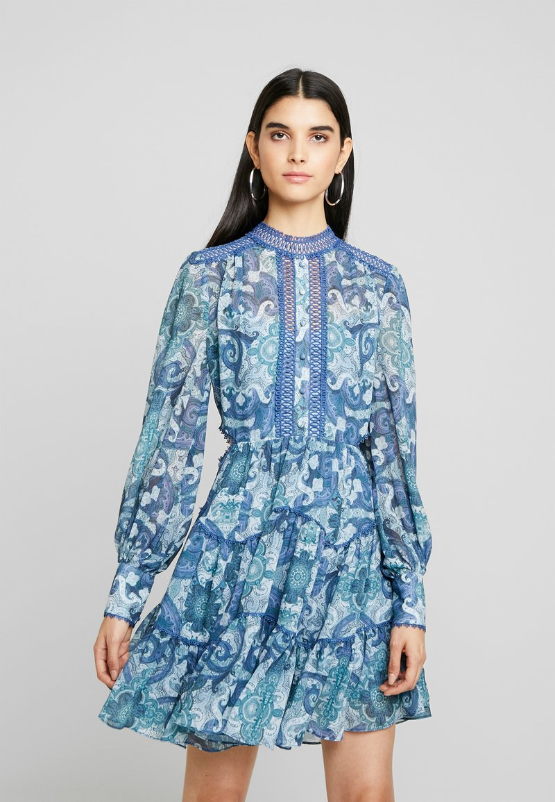 Forever New - KAI BALLOON SLEEVE DRESS - Vestito estivo - blue