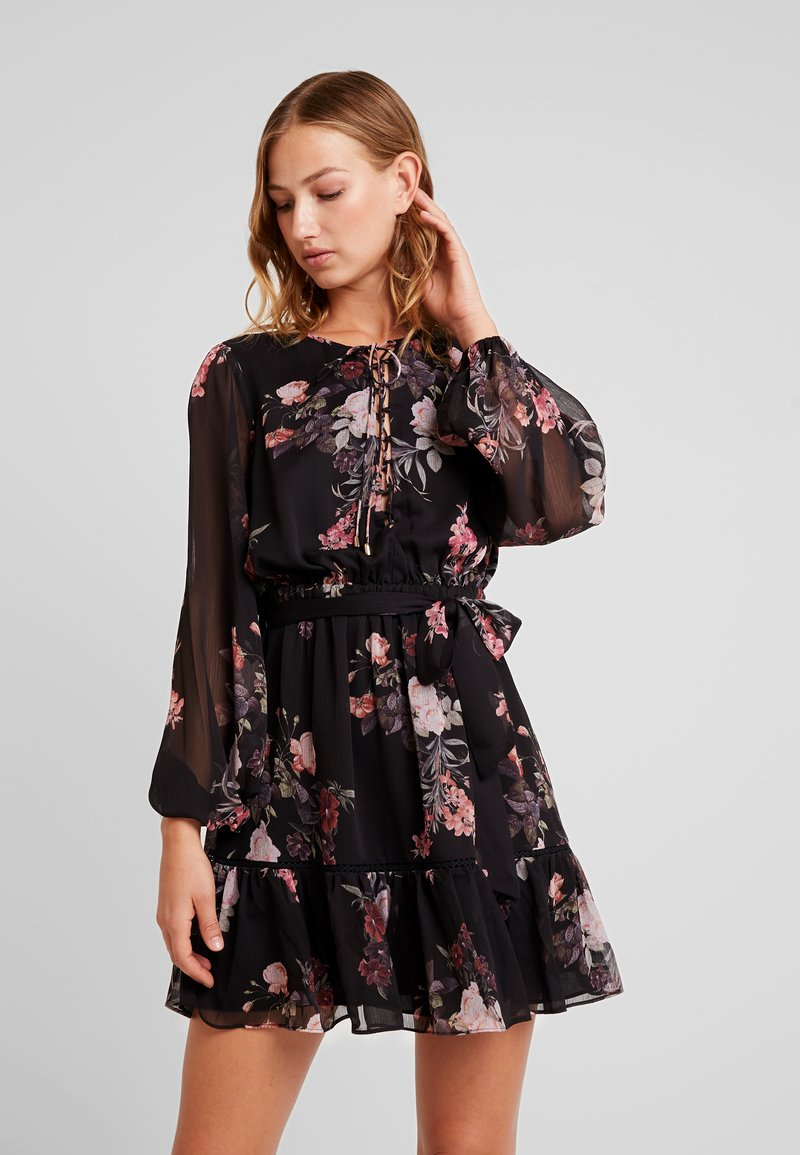Forever New - LANA BODICE MINI DRESS - Skjortekjole - black