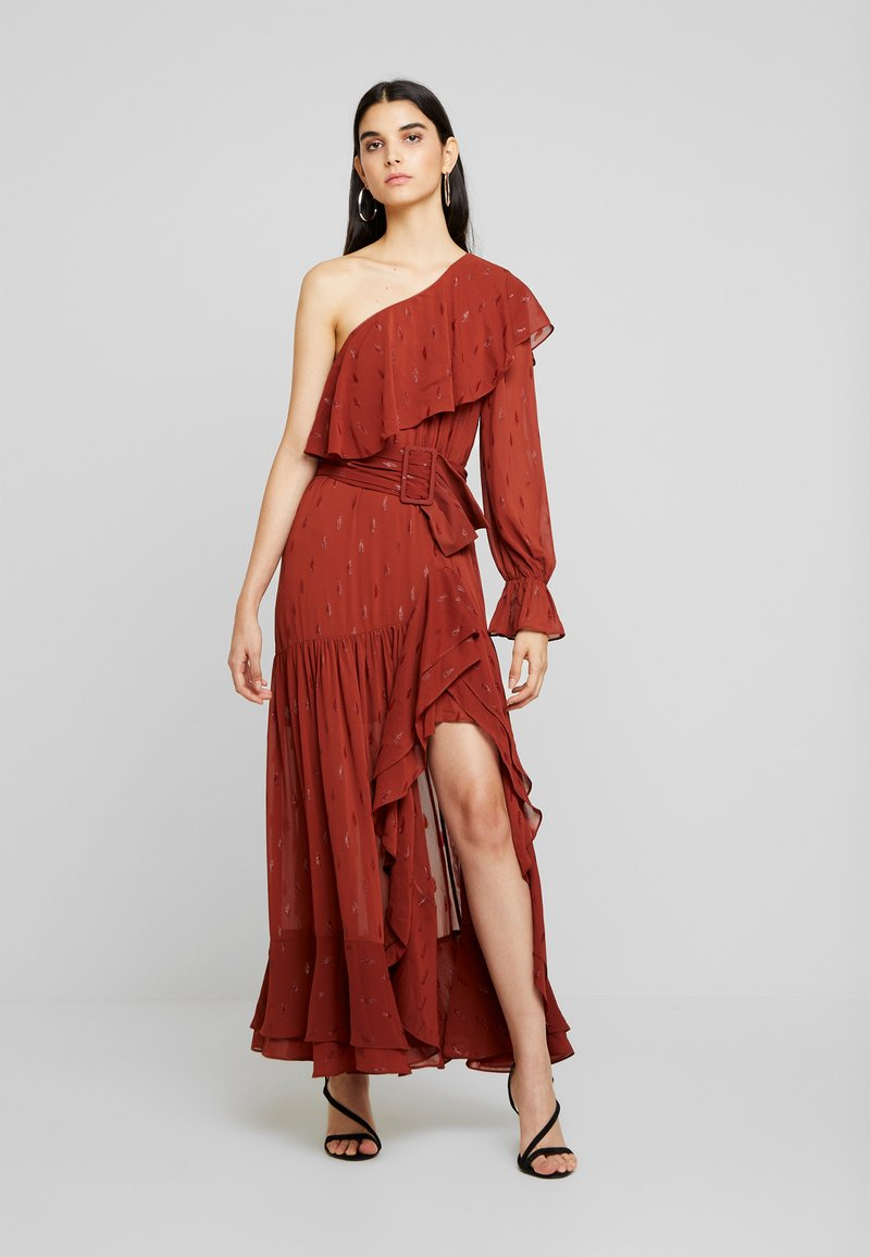 Forever New - DESTINY ONE SHOULDER DRESS - Vestido de fiesta - rust