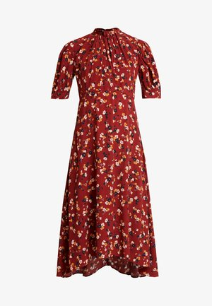 TESSA PUFF SLEEVE MIDI DRESS - Maxikjole - bordeaux
