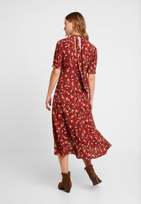 Forever New - TESSA PUFF SLEEVE MIDI DRESS - Vestido largo - bordeaux - 3