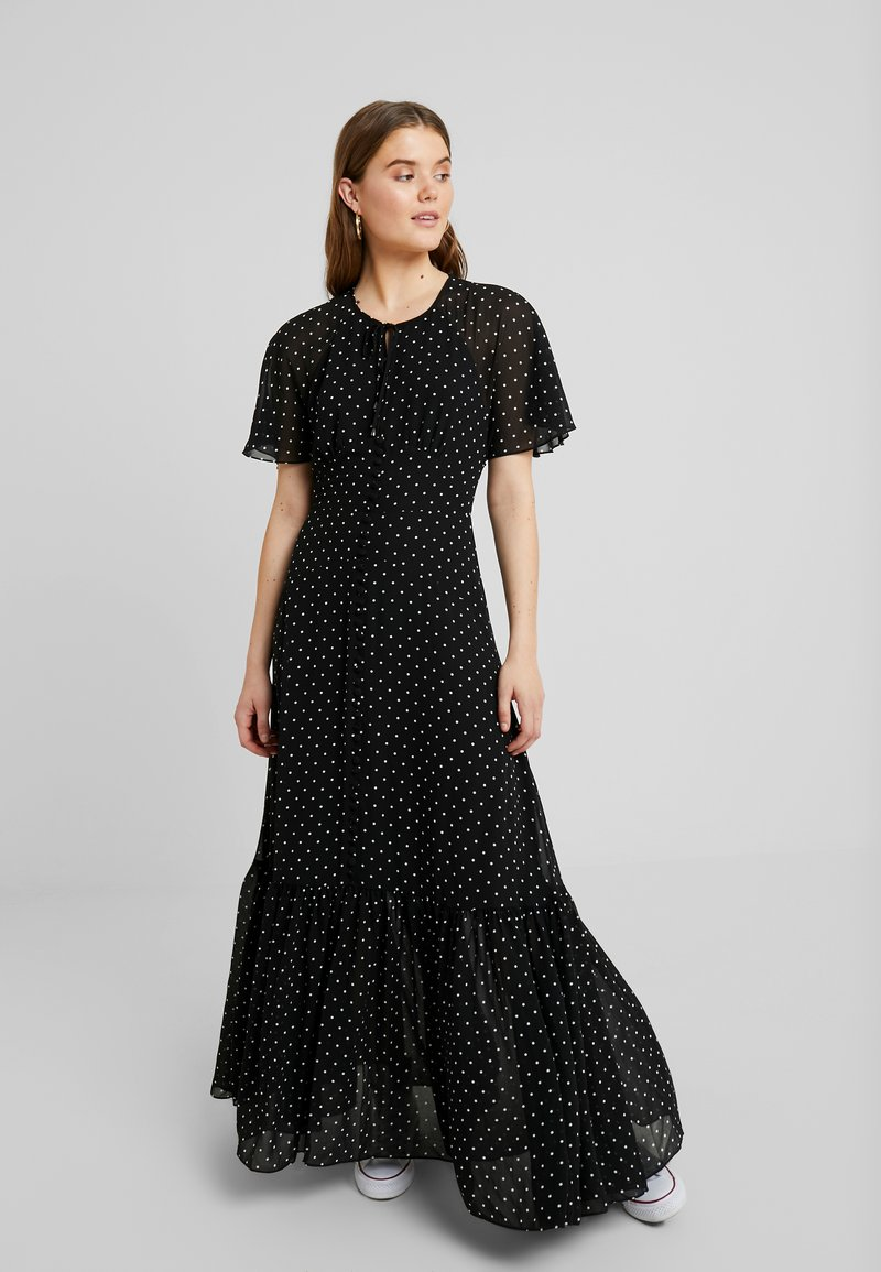Forever New - IVY CAPE SPOT DRESS - Maxikleid - black