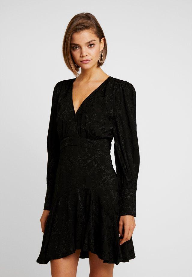 WRAP MINI DRESS - Vestido informal - black