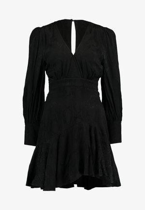 WRAP MINI DRESS - Day dress - black
