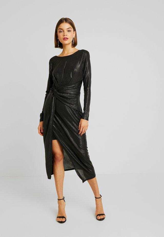 TESSA TWIST LONG SLEEVE DRESS - Denní šaty - charcoal