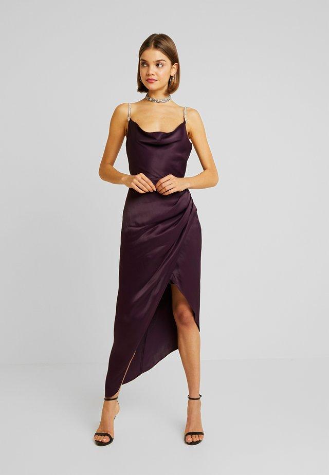 JULIETTE TRIM COWL NECK MIDI - Vestido de fiesta - grey/purple