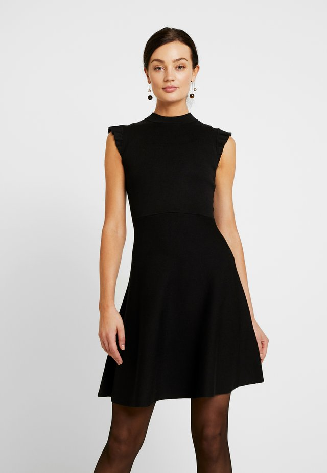 BILLY FIT AND FLARE DRESS - Vestido de punto - black
