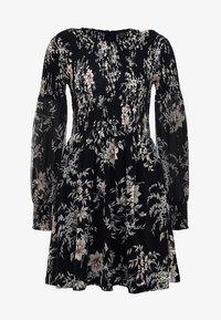 Forever New - JULIETTA SHIRRED MINI DRESS - Sukienka letnia - black - 5