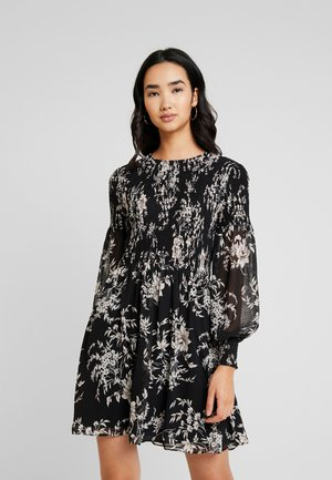 JULIETTA SHIRRED MINI DRESS - Robe d'été - black