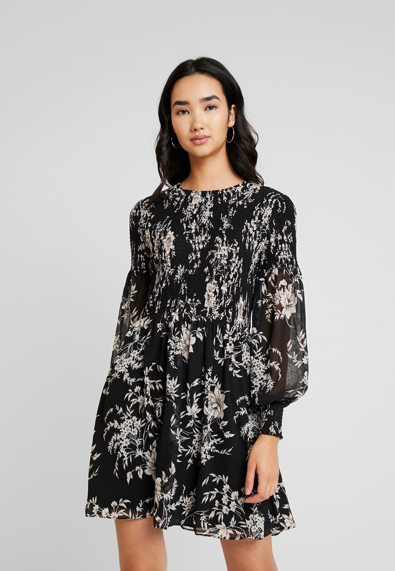Forever New - JULIETTA SHIRRED MINI DRESS - Sukienka letnia - black