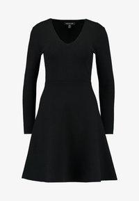 Forever New - CARRIE SKATER DRESS - Strikket kjole - black - 3