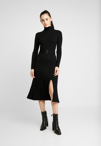 Forever New - STEPHANIE MIDI DRESS - Vestido de punto - black - 0
