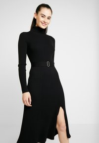 Forever New - STEPHANIE MIDI DRESS - Vestido de punto - black - 4