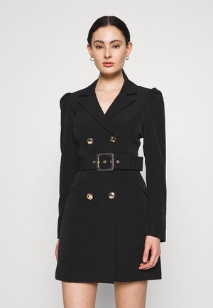BERNADETTE BELTED BLAZER DRESS - Vestito estivo - black