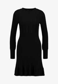 Forever New - LONG SLEEVE RIBBED DRESS - Robe pull - black - 5