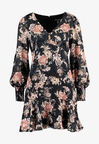 Forever New - INEZ LONG SLEEVE RUFFLE DRESS - Vestido informal - black - 3