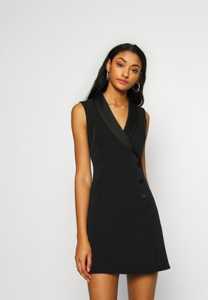 NALA SLEEVELESS TUX DRESS - Vestito estivo - black